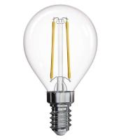 LED žárovka Filament Mini Globe 2W E14 neutrální bílá