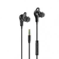 Kabelová Sluchátka | 3.5 mm | Délka kabelu: 1.20 m | Vestavěný mikrofon | Ovládání Hlasitosti | Křidélka | Černá