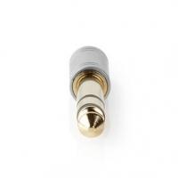 Stereo Audio Adaptér | Muž 6,35 mm | 6.35 mm Zástrčka | Pozlacené | Přímý | Kov | Stříbrná | 1 ks | Box