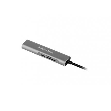 Adaptér KRUGER & MATZ (HUB) USB C na port HDMI / USB3.0 / SD / MicroSD
