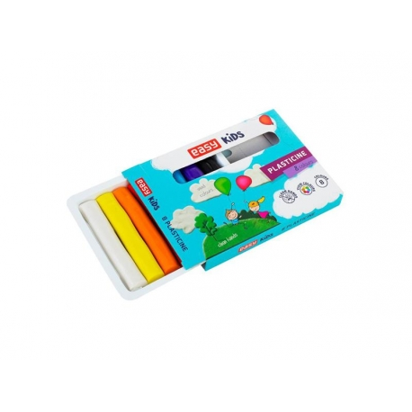 Plastelína EASY Creative sada 8 barev, 128g