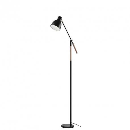 Stojací lampa EDWARD na žárovku E27, černá