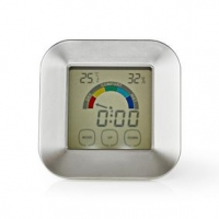 Kuchyňský Teploměr | Bílá / Stříbrná | Plast | Digitální displej | 85 mm | 24 mm | 85 mm