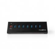 Rozbočovač USB | 8portový | Napájení přes USB 3.0 | Nabíjecí Port QC3.0 | 5 Gb/s