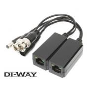 Video Balun DI-WAY UTP5SP s přepěťovou ochranou stohovatelný