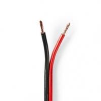 Repro kabel | 2x 2.50 mm² | CCA | 25.0 m | Kulatý | PVC | Černá / Červená | Zabaleno