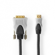 HDMI™ - DVI Cable | HDMI™ Connector - DVI-D 18+1-Pin Male | 2.50 m | Black
