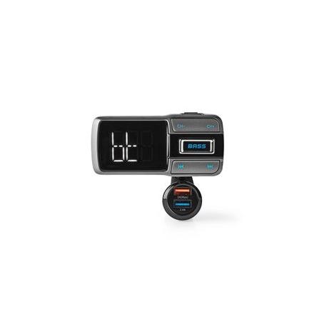FM Vysílač do Auta   Bluetooth®   Zvýraznění Basů   Slot na MicroSD Kartu   Hands-Free Volání   Ovládání Hlasem   3 A/2,4 A