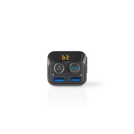 FM Vysílač do Auta | Bluetooth® | Zvýraznění Basů | Slot na MicroSD Kartu | Hands-Free Volání | 2 × USB