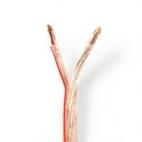 Repro kabel | 2x 6.00 mm² | CCA | 100.0 m | Kulatý | PVC | Transparentní | Zabaleno