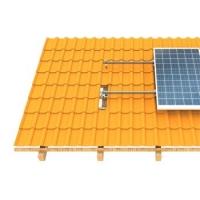 FVE Nosná konstrukce pro uchycení FVE panelů, plechová střecha (klik) , vertikální uchycení