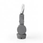 Drátová Sluchátka   1,2m Kulatý Kabel   Na Uši   Odpojitelná Magnetická Ouška   Willy Wolf   Šedá