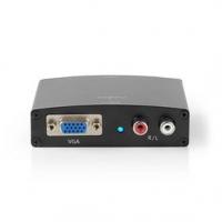 HDMI™ Převodník | Vstup HDMI ™ | VGA / 2x RCA Zásuvka | 1cestný | 1280x768 | 1.65 Gbps | Hliník | Antracitová