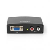 HDMI™ Převodník | VGA / 2x RCA Zásuvka | Výstup HDMI ™ | 1cestný | 1080p | 1.65 Gbps | Hliník | Antracitová