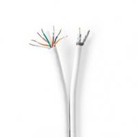 IEC (koaxiální) CAT6 Combi Cable   RG59   75 Ohm   Dvojité Stínění   Eca   25.0 m   Kulatý   Bílá   Dárkový Box
