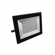 LED venkovní reflektor SLIM,100W, 8500lm, 4000K, AC 230V, černá
