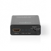 HDMI™ Audio Extractor | Digital and Stereo - 1x HDMI™ Input | 1x HDMI™ Output + TosLink + 3.5 mm