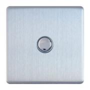 Govena Luxusní tlačítkový vypínač/zvonek, broušená ocel