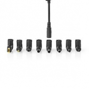 Adaptér pro Notebook | Univerzální – 8 Konektorů | 65 W | Výstup 15–20 V / 4 A (max.)