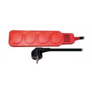 Prodlužovací přívod s vypínačem SOLIGHT PP332, 4 zásuvky  3m venkovní