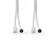 Koaxiální/CAT6 Kombinovaný Kabel | S Konektory | 1,5 m
