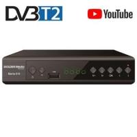 GOLDEN MEDIA MANIA 818, DVB-T2 Full HD HEVC H.265, YouTube