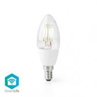 SmartLife LED žárovka | Wi-Fi | E14 | 400 lm | 5 W | Teplá Bílá | 2700 K | Sklo | Android™ & iOS | Svíčka