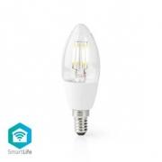 Chytrá Wi-Fi LED Žárovka | E14 | C37 | 5 W | 400 lm | Bílá
