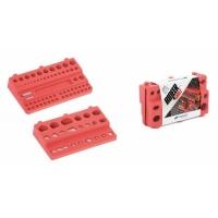 Sada držáků na nářadí BINEER SHELFS 190x111mm, červená, 2 ks PROSPERPLAST