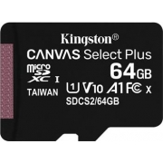 Kingston 64GB microSDXC Canvas Select Plus A1 CL10 100MB/s bez adapteru