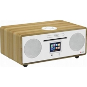 FERGUSON i500 - Digitální rádio Spotify White/light wooden, DAB+, FM, CD, WiFi, Bluetooth