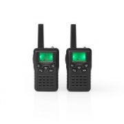 Walkie-Talkie | Range 10 km | 8 Channels | VOX | Charging Base | 2 Pieces | Black