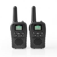 Walkie-Talkie Set | 2 sluchátka | Až 10 km | Frekvenční kanály: 8 | PTT / VOX | Až 3 hodiny | Černá