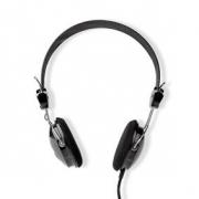 Drátová Sluchátka | 1,1m kulatý kabel | Na uši | Lehká | Černá