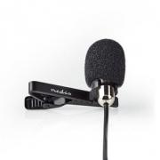 Kabelový Mikrofon | Připínací | Klopový mikrofon | 3,5 mm | Kovový