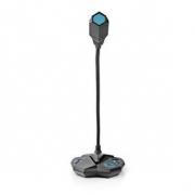 Stolní Herní USB Mikrofon | Ohebné rameno | USB | Tlačítko Ztlumení | 3,5mm Stereofonní Audio Konektor