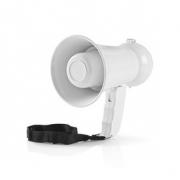 Povzbuzovací Megafon | 100 dB | Dosah 100 m | Samolepky Zemí | Bílý