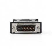 Adaptér DVI – VGA | DVI-D 24+1 kolíků zástrčka-zásuvka VGA | Černý