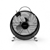 Stolní Ventilátor   Síťové napájení   Průměr: 250 mm   20 W   2-Rychlostní   Černá