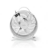 Stolní Ventilátor   Síťové napájení   Průměr: 250 mm   20 W   2-Rychlostní   Bílá