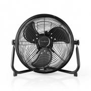 Nabíjecí Podlahový Ventilátor | 30cm Průměr | Až 10 Hodin | USB Výstup | Černý