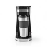 Kávovar na Jeden Hrnek| Dvoustěnný Cestovní Hrnek | 0,42 l | Černý