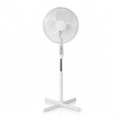 Stojanový Ventilátor na Dálkové Ovládání | Nastavitelná Výška | Průměr 40 cm | 3rychlostní | Bílý