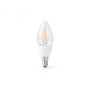 Chytrá WiFi žárovka LED E14 5W teplá bílá NEDIS WIFILF10WTC37 SMARTLIFE