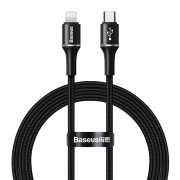 Baseus Halo Data Cable USB-C to iPhone Lightning PD 18W 1m Black