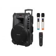 Reprosoustava přenosná KRUGER MATZ KM1715, 2x bezdrátový mikrofon, 60W