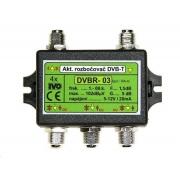 """IVO DVBR-03 Aktivní rozbočovač DVB-T/T2 4x výstup """"F"""" 5dB zisk"""