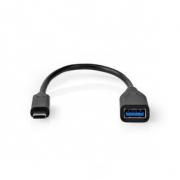 USB-C™ Kabel s Adaptérem | USB-C™ Zástrčka | A Zásuvka | 0,2 m | Černý