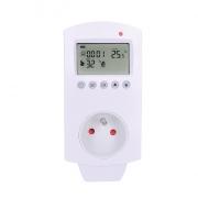 Solight termostaticky spínaná zásuvka, zásuvkový termostat, 230V/16A, režim vytápění nebo chlazení, různé teplotní režimy