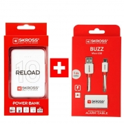 SKROSS PROMO powerbanka Reload 10 + Alarm USB kabel zdarma